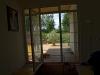 Psí hotel- pohled z terasy na zahradu